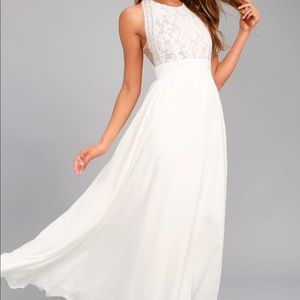 Lulu's Forever and Always White Dress